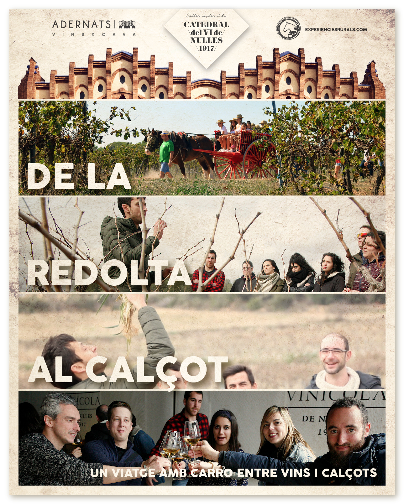 'De la redoll al calçot' the new activity of the winery Adernats i Experiències Rurals
